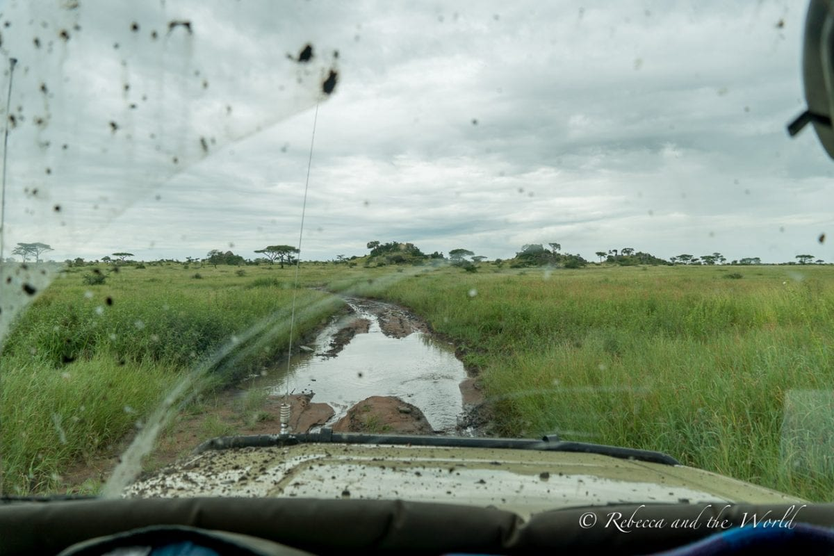 The road conditions while on a safari in East Africa can be challenging