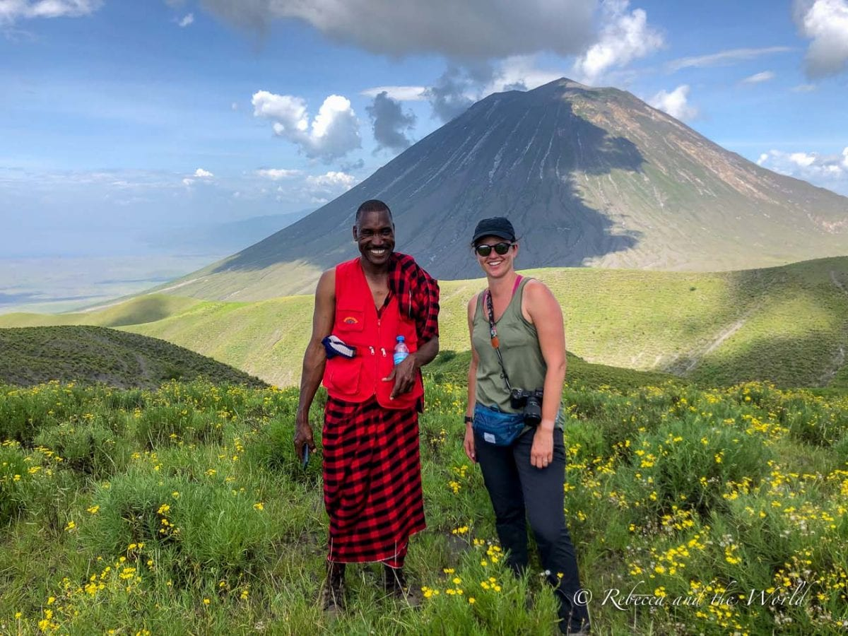 My Maasai guide, Amani, who shared his culture with me as we hiked from Ngorongoro to Lake Natron