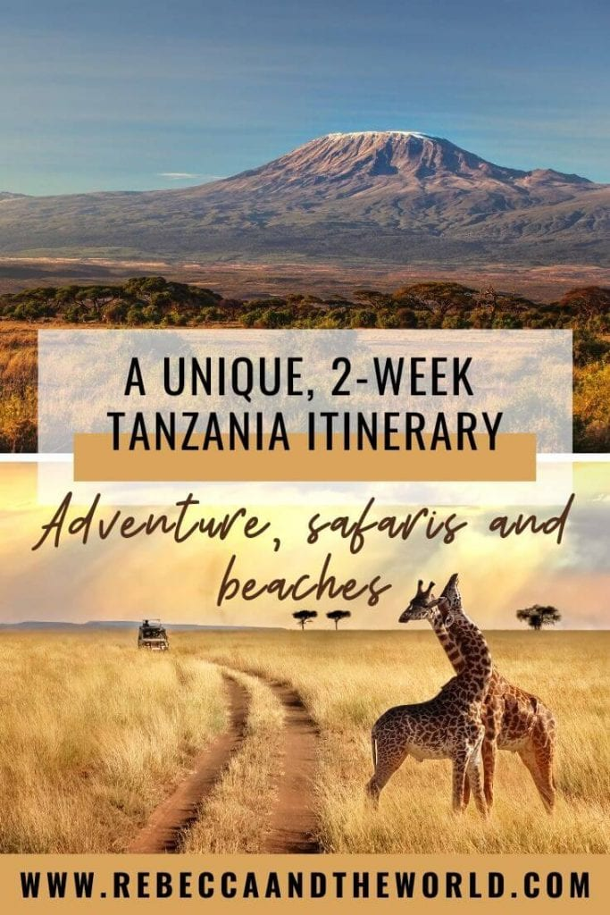 Looking for a unique Tanzania itinerary that mixes adventure, safaris, culture and beaches? Then this 2 weeks in Tanzania itinerary is right for you! | #Tanzania #EastAfrica #AfricaTravel #safari #TanzaniaItinerary #TanzaniaTravel #Zanzibar #Serengeti