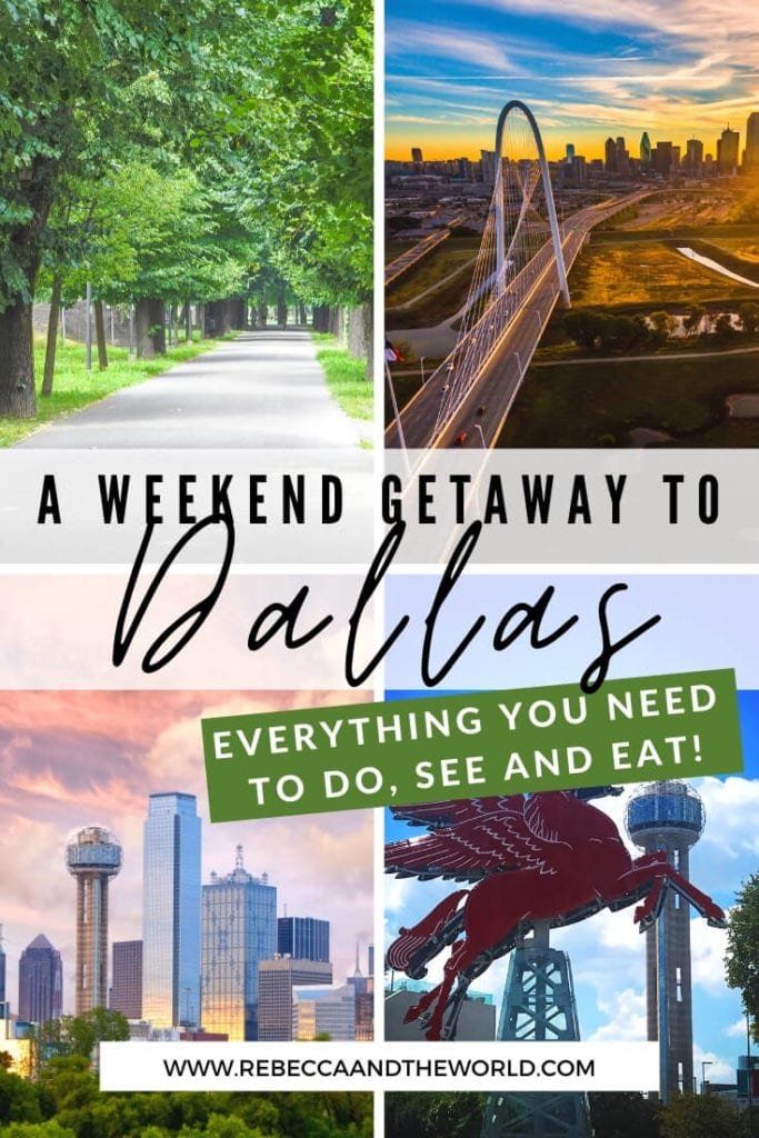 Planning a weekend in Dallas, Texas? The US's 9th largest city has a lot to keep you busy. From eating and drinking, to cultural and historical pursuits, to wandering cute neighbourhoods, here's what to do on a weekend trip to Dallas. | #dallas #dallastx #texas #usatravel #dallasweekendgetaway #dallasweekendtrip #thingstodoindallas #weekendindallas #dallastravelguide #travel