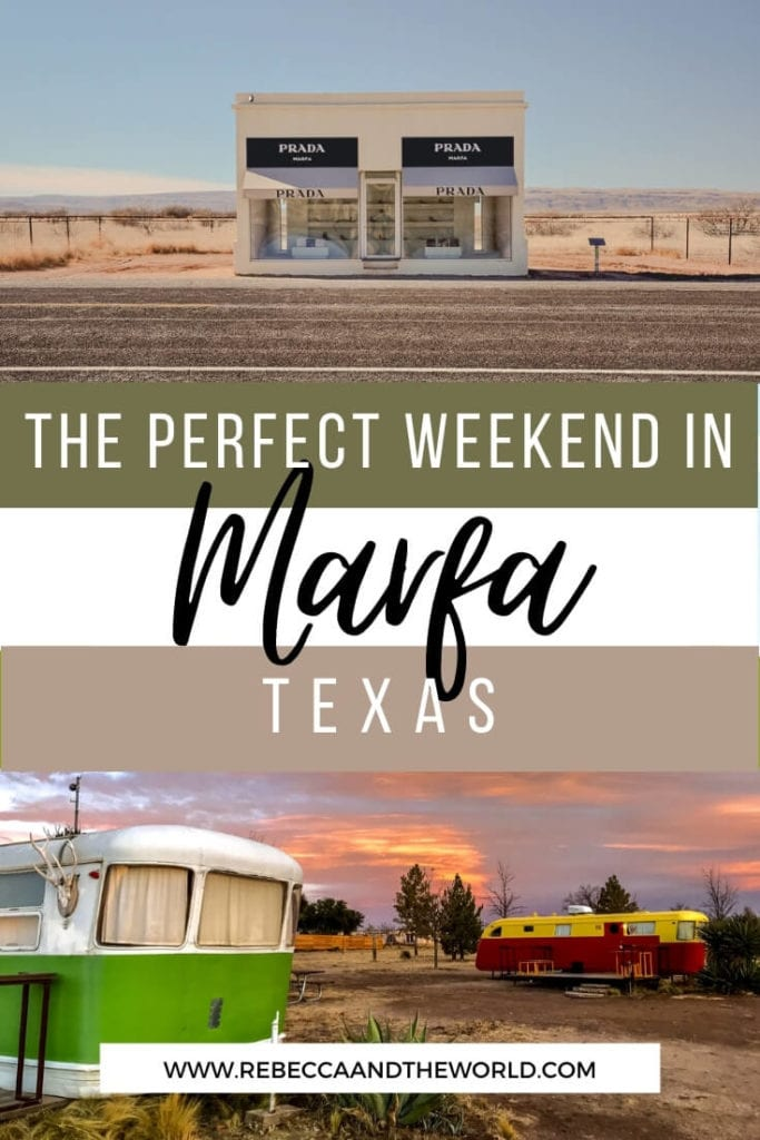 Have you heard of Marfa, Texas? It's one of the coolest and quirkiest towns in Texas! Spend a weekend in Marfa with this guide which shares what to do in Marfa, where to eat and where to stay in Marfa. | Marfa | Marfa Texas | Things To Do in Marfa | Weekend in Marfa | Texas Travel | USA Travel | USA Small Towns | West Texas Road Trip | What To Do in Marfa | Marfa Travel Guide | Weekend in Marfa | Visit Texas | Visit Marfa | Marfa TX | Where to Stay in Marfa