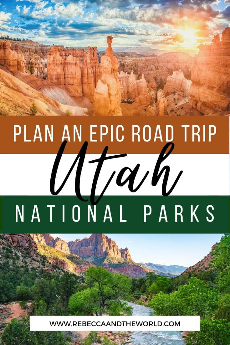 Want to see 5 national parks in a week? This 7-day Utah national parks road trip takes you through Utah and Arizona! Includes stops in Zion National Park, Bryce Canyon National Park, Capitol Reef, Arches National Park and Canyonlands National Park. I've highlighted the best things to do in Utah national parks on the Utah road trip - one of the best USA road trips! | #zionnp #brycecanyon #usaroadtrip #Utahnationalparks #canyonlands #archesnp #Arizona #nationalparks #usatravel #visitUtah