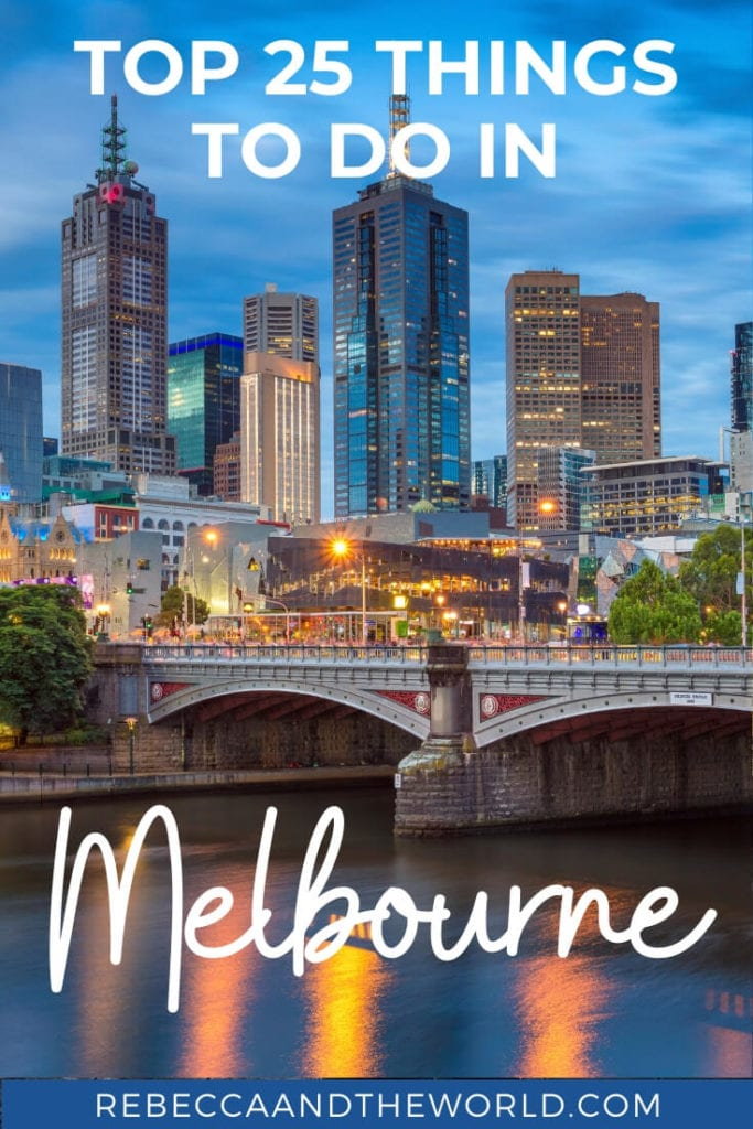Melbourne, Australia, is one of the coolest cities in the world. But it can be overwhelming to figure out what to add to your Melbourne itinerary. Here, a local shares her tips for the best 25 things to do in Melbourne, from street art to trendy bars to parks to culture. Read on and save this post for when you visit Melbourne!   #melbourne #australia #melbournetravelguide #australiatravel #thingstodoinmelbourne #visitmelbourne