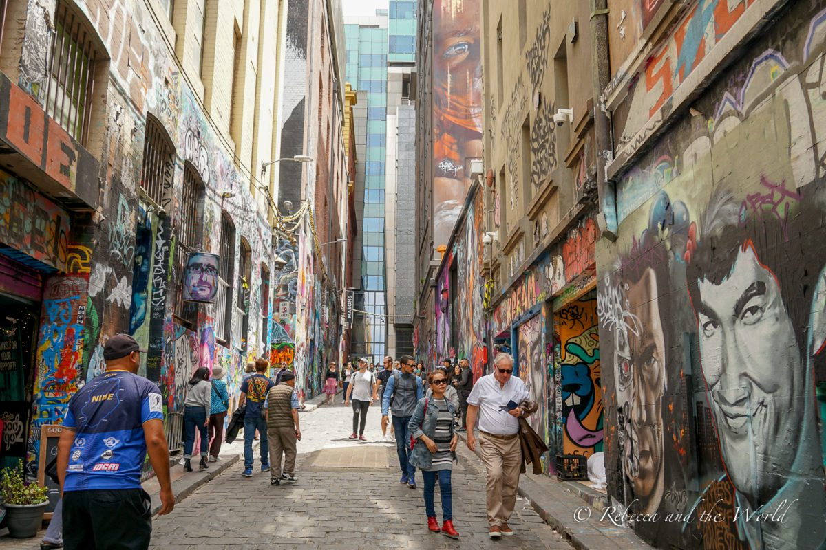 The street art in Melbourne is world famous - one of the most popular alleyways is Hosier Lane
