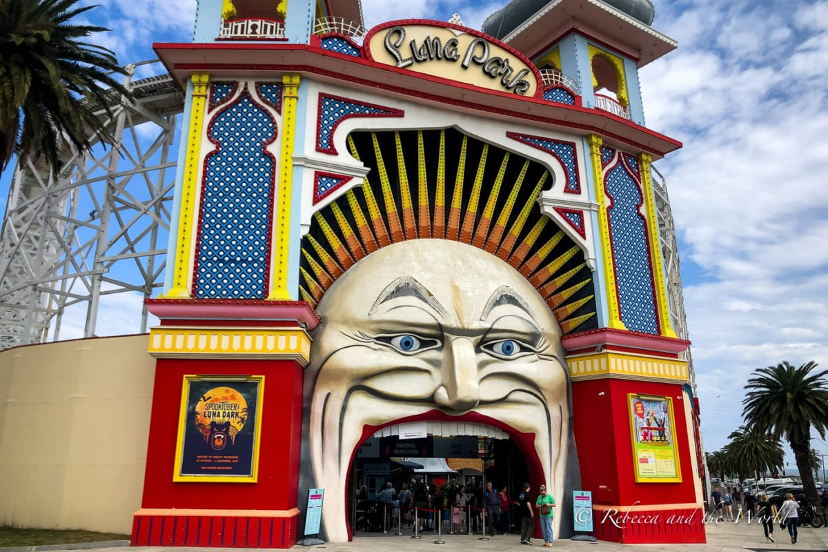 Luna Park is a fun place to visit in Melbourne, especially if you're visiting Melbourne with kids