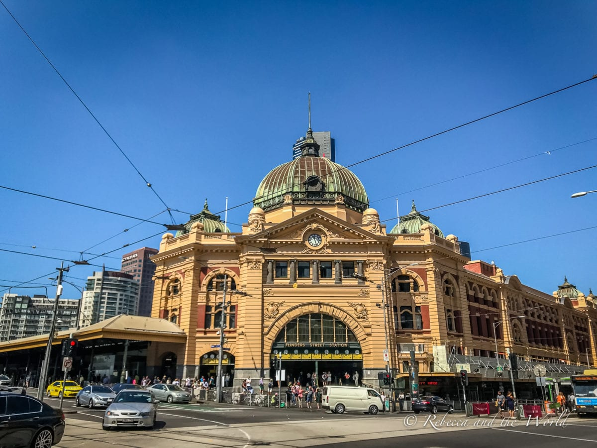 Flinders St Station is one of Melbourne's iconic buildings