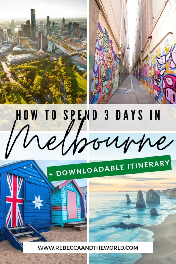 Only got 3 days in Melbourne? Check out this local's guide to the perfect Melbourne itinerary, covering the city's highlights and local gems. From where to go in the CBD and which cool neighbourhoods to explore, this Melbourne travel guide has you covered. Also includes more things to do in Melbourne if you have 5 days in Melbourne or more. | #Melbourne #MelbourneAustralia #AustraliaTravel #ThingsToDoinMelbourne #MelbourneTravelGuide #Melbourne3DayItinerary #MelbourneTravel