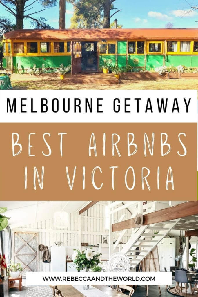 Plan a weekend getaway from Melbourne and book one of these incredible Airbnbs in Victoria. From the coast to the country, this list of unique accommodation in Victoria covers all budgets. | Victoria Australia | Weekend Getaway from Melbourne | Airbnbs in Victoria | Accommodation in Victoria | Luxury Accommodation in Victoria | Airbnbs Near Melbourne | Things To Do in Victoria Australia | Day Trips from Melbourne | Melbourne Australia | Best Airbnbs in Victoria | Airbnb Victoria Australia