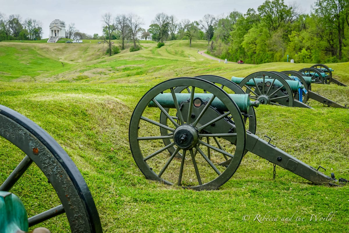 One of the bCannons at the Vicksburg National Military Park
