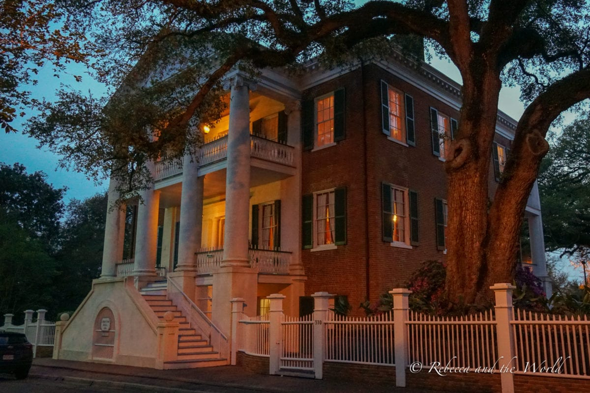 One of the beautiful antebellum homes in Natchez, MS