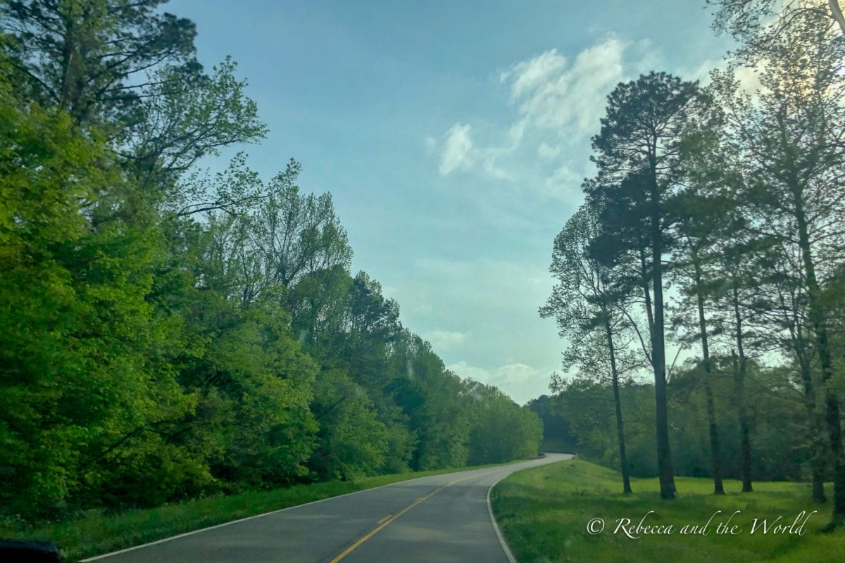 The Natchez Trace Parkway is a beautiful road between Natchez, MS and Nashville, TN