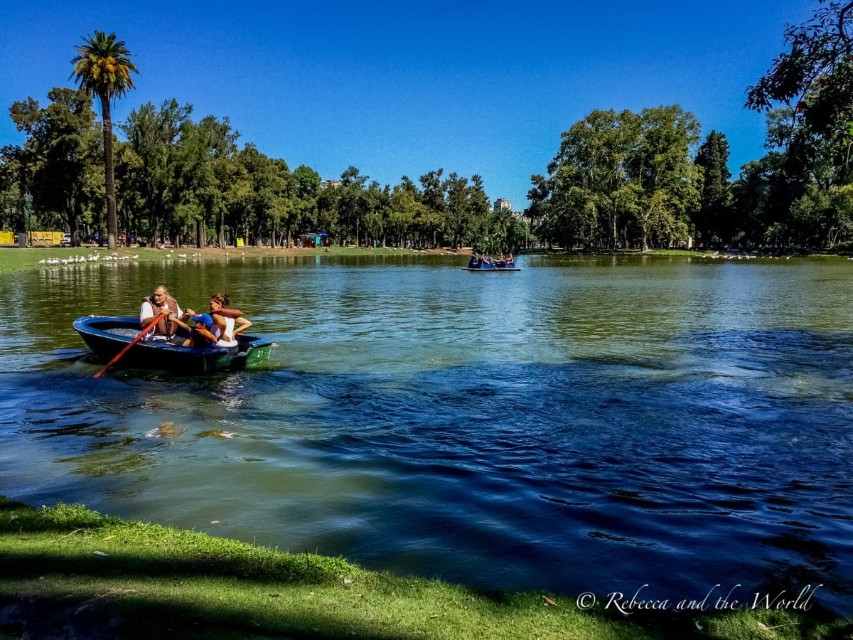 Palermo in Buenos Aires is filled with lush green parks and lakes that are fun to visit on the weekend
