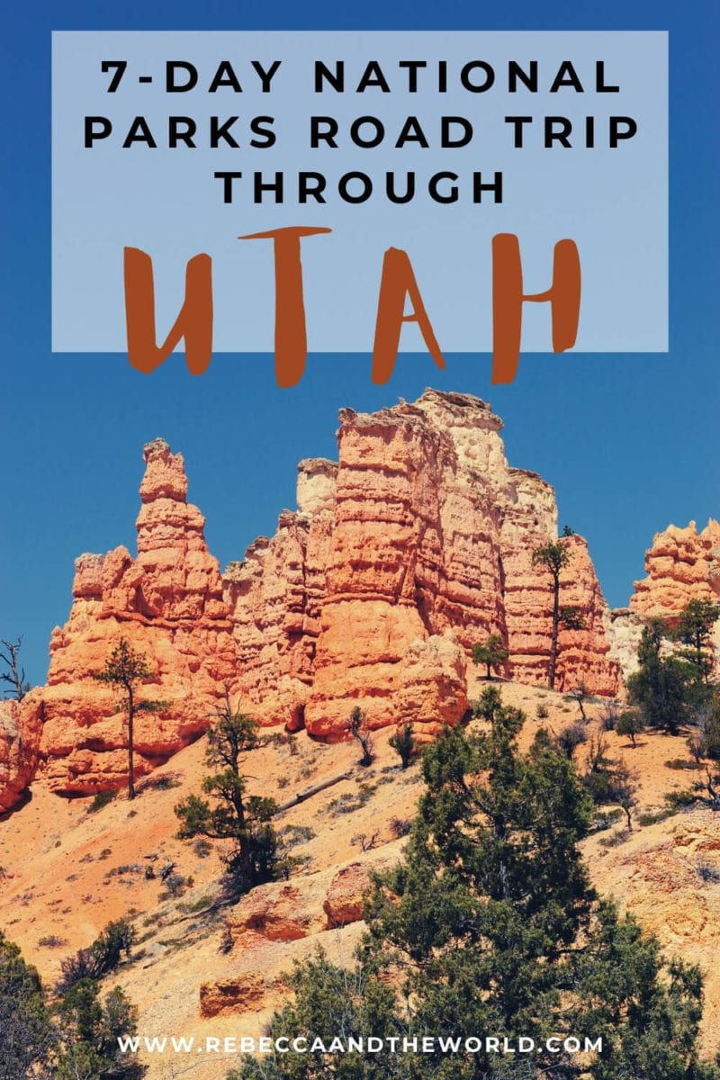 Want to see 5 national parks in a week? This 7-day Utah national parks road trip takes you through Utah and Arizona! Includes stops in Zion National Park, Bryce Canyon National Park, Capitol Reef, Arches National Park and Canyonlands National Park. I've highlighted the best things to do in Utah national parks on the Utah road trip - one of the best USA road trips! | Visit Utah | USA Travel | Utah National Parks | Utah Itinerary 7 Days | Utah Itinerary | Utah National Parks Itinerary 7 Days