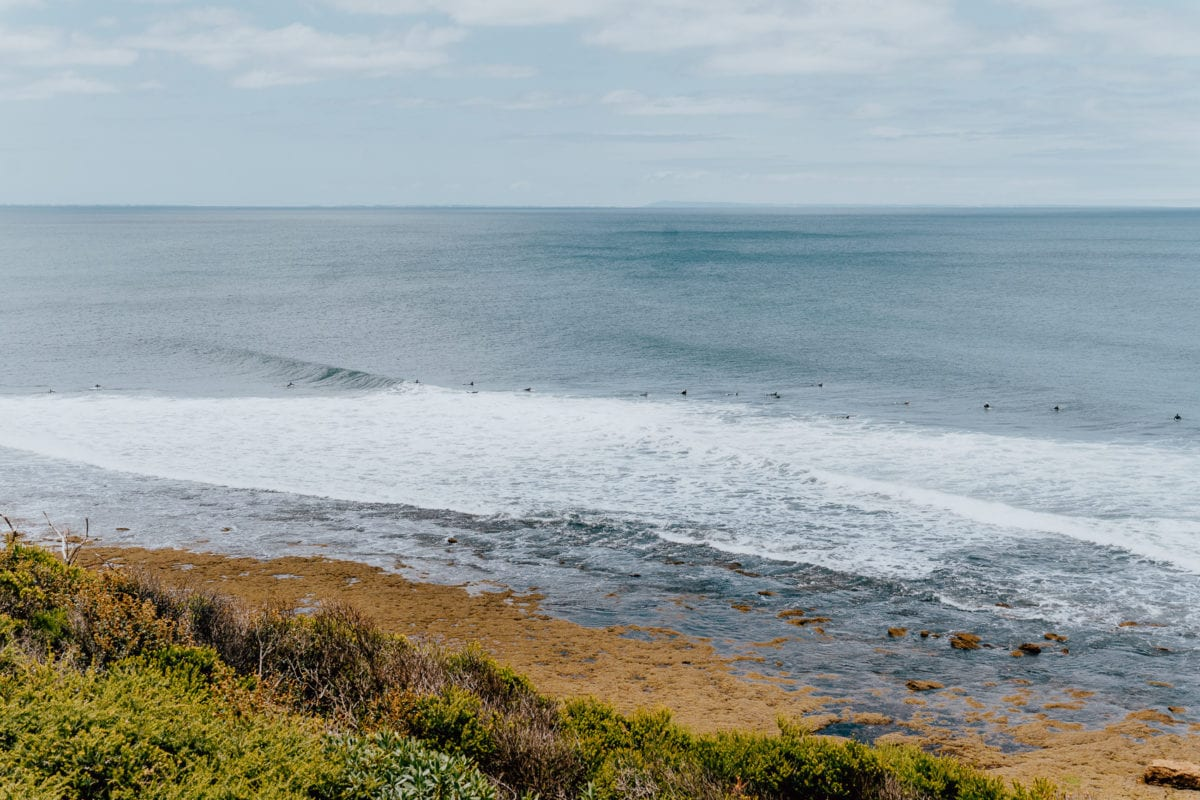 Watching surfers at Bells Beach is one of the best things to do in Torquay