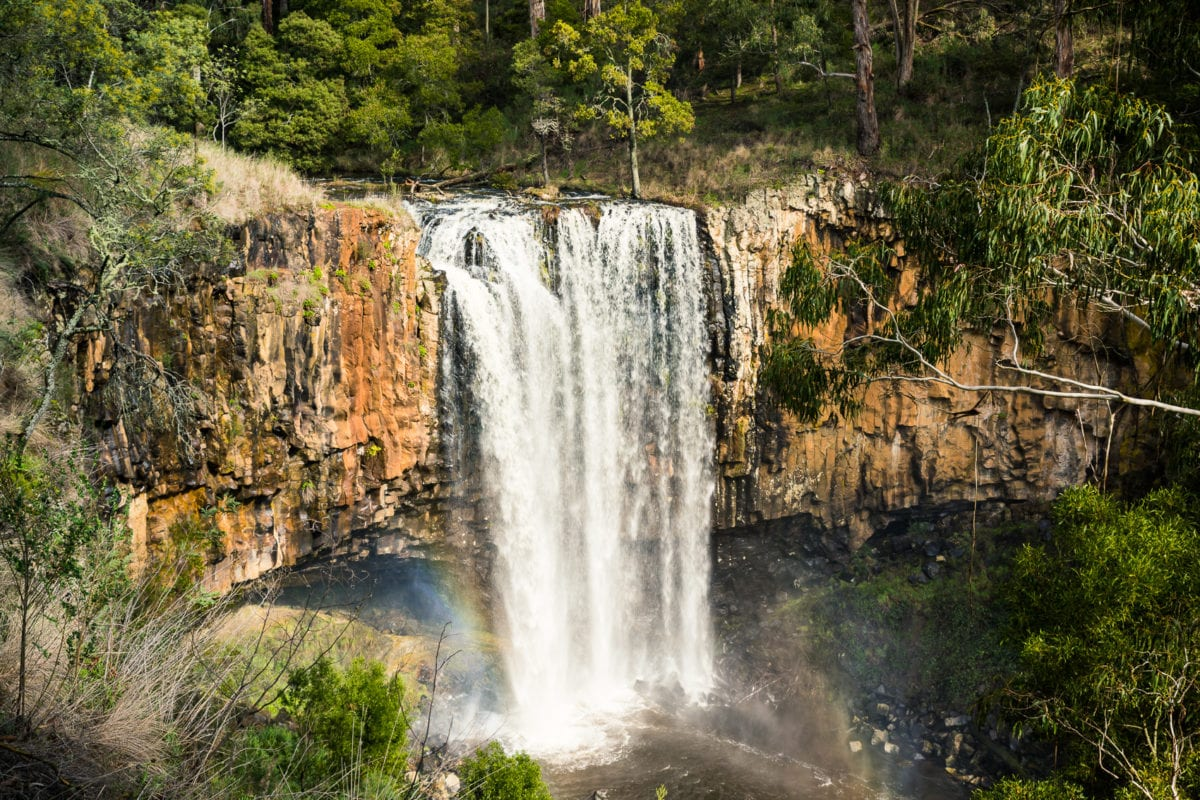 Trentham Falls in the Macedon Ranges makes for an underrated day trip from Melbourne