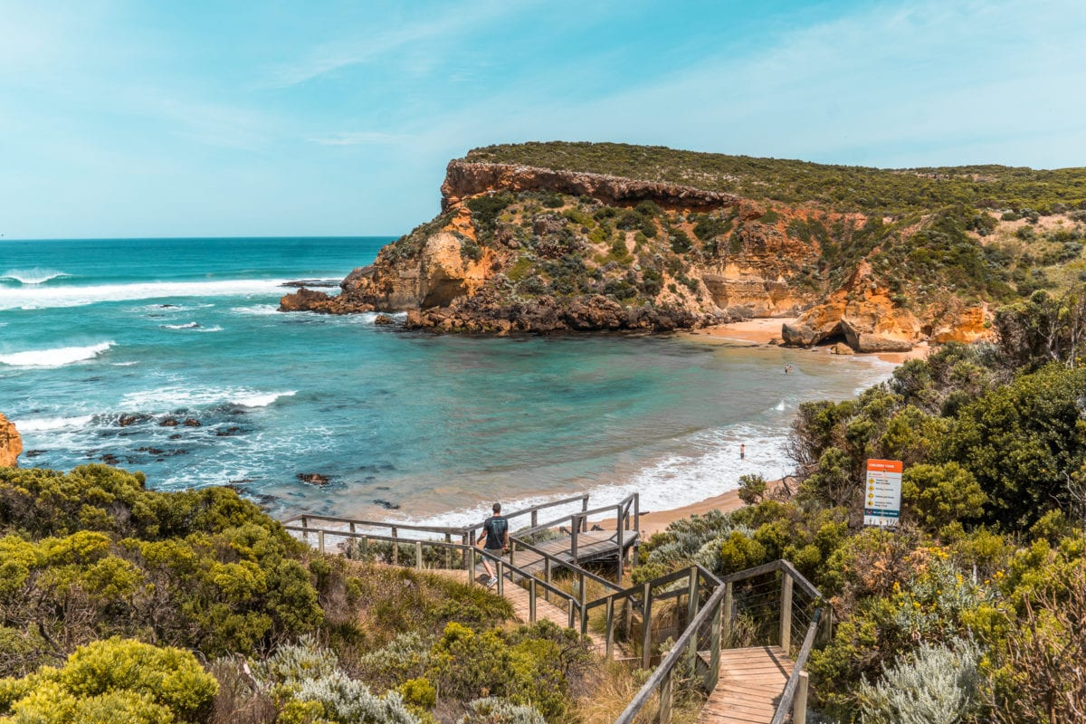 Childers Cove is one of the not so secret beaches in Victoria - a must for your 3-day Great Ocean Road itinerary