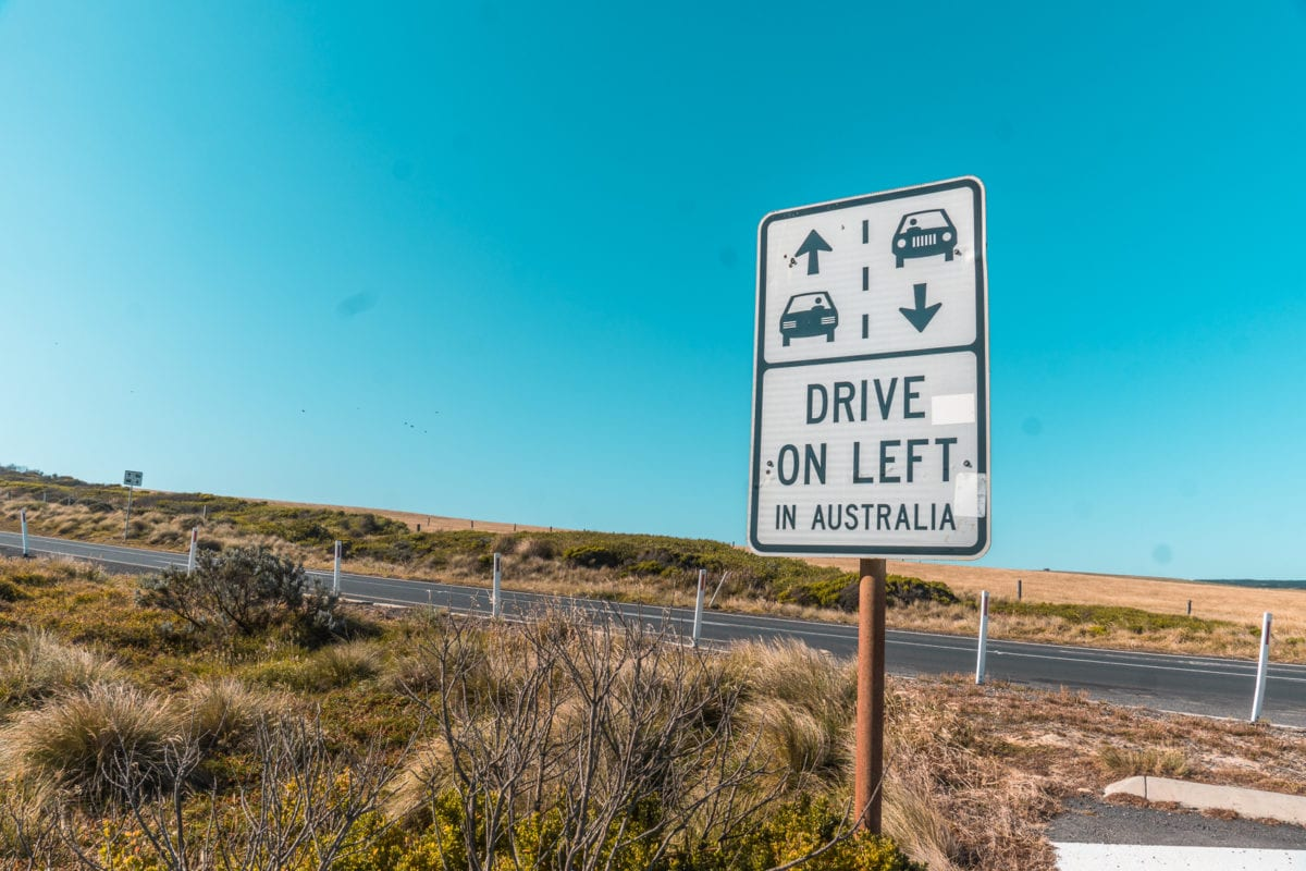 Make sure you drive on the left-hand side when you drive the Great Ocean Road in Australia!
