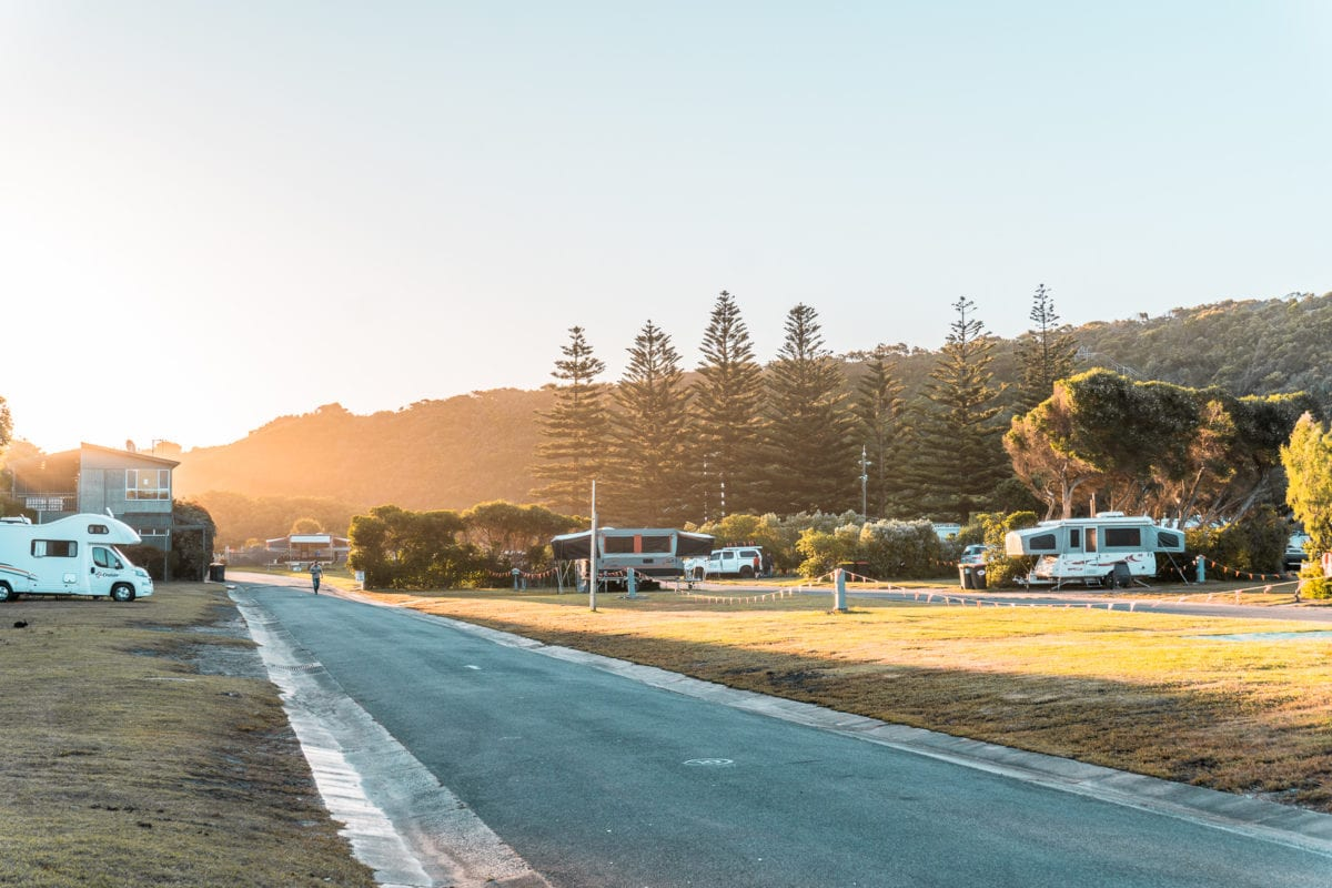 Some of the best Great Ocean Road accommodation is at caravan parks and campgrounds