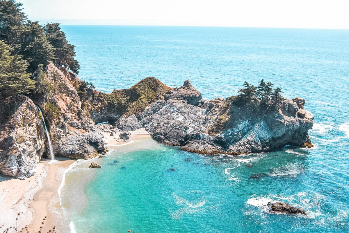 Big Sur is a gorgeous place to visit in the USA - stop by McWay Falls for this view