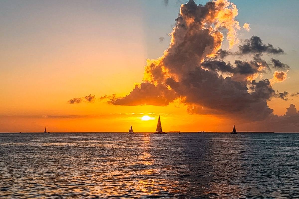 Watching the sunset is one of the best things to do in Key West, Florida
