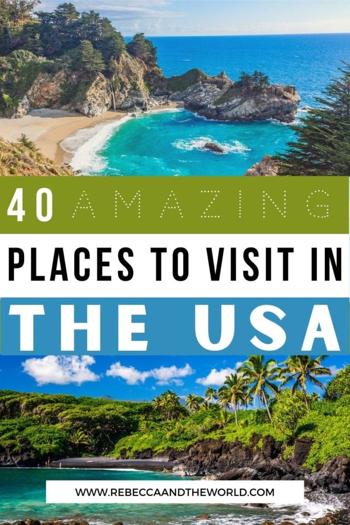 Looking for the best places to visit in the US? These 40+ USA destinations will give you serious travel inspiration to plan your USA vacation! | USA Travel | Places to Visit in the USA | Places to Visit in the United States | Places to Visit in the US | Best Cities in the USA | USA Bucket List | USA Destinations | USA Vacations | USA Best Places to Visit | Beautiful USA Destinations | USA Travel Inspiration | Where to Visit in the USA | Visit the USA | Visit the United States