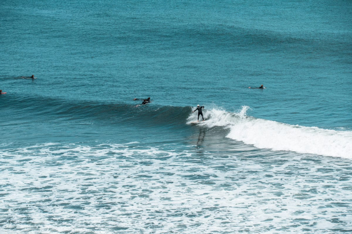 One of the best Great Ocean Road attractions is Bells Beach - stop by here to watch surfers