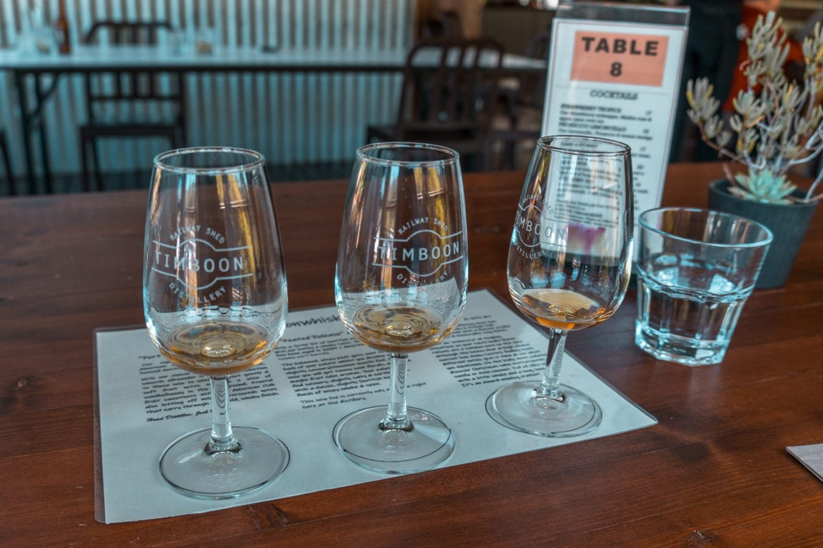 One of the fun things to do on the Great Ocean Road is to taste whisky at the Timboon Railway Shed Distillery