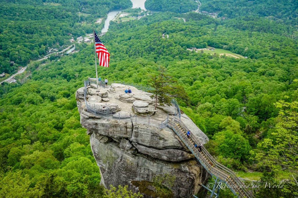 Asheville is home to plenty of outdoors activities, like Chimney Rock State Park