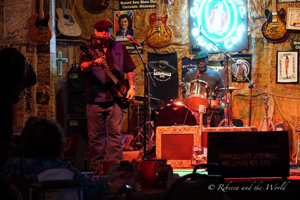 Clarksdale in Mississippi is the birthplace of the blues and you'll be able to catch live music most nights of the week