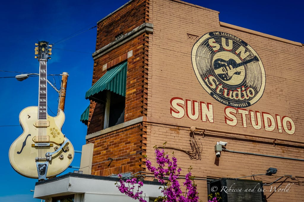 Sun Studio is one of the best Memphis museums to visit on a USA road trip