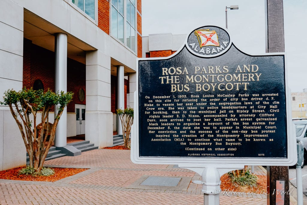 One of the best things to do in Montgomery Alabama is visit the Rosa Parks museum