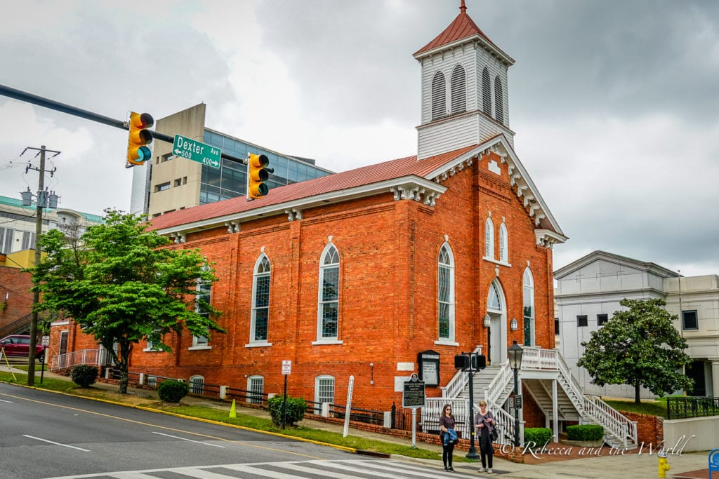 The Dexter Avenue King Memorial Baptist Church is one of the best places to visit in Montgomery Alabama