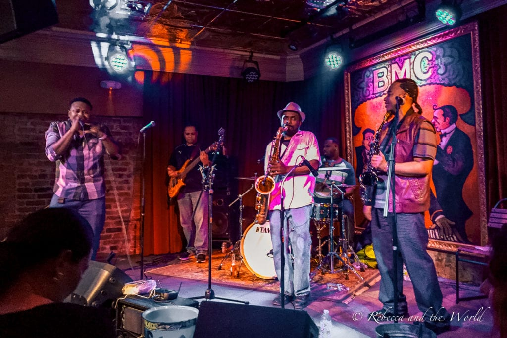 Catch plenty of live music on a stop in New Orleans on a Deep South road trip