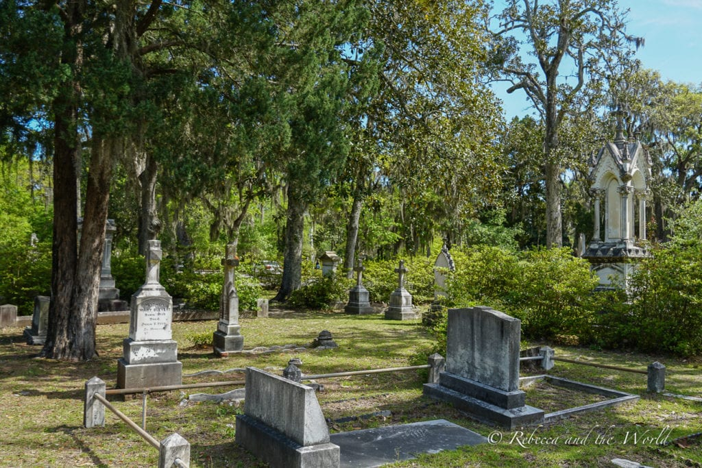 One of the spookiest things to do in Savannah is visit a cemetery
