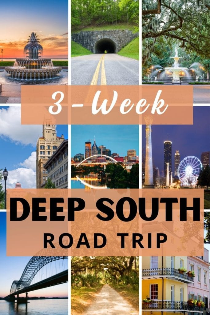 Plan an epic Deep South Road trip itinerary full of great food, history and culture. This Southern USA road trip guide has you covered.   Deep South Road Trip   Road Trip USA   USA Road Trips   Southern USA Road Trip   Deep South   Deep South Road Trip Itinerary   Best Road Trips in America   Deep South USA   American Deep South   Road Trip Southern USA   Deep South Road Trips   USA Itinerary