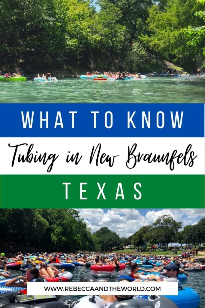 Looking for some summer fun in Texas? Head to New Braunfels, Texas, and spend a day floating on the river! This guide provides all the essentials for tubing in New Braunfels: which river to choose, what to take with you, how to choose an outfitter and the rules to know. | River | New Braunfels | Tubing in New Braunfels | River Tubing | Summer | Floating | Tubing | River Float | Texas | Hill Country | Tubing in Texas
