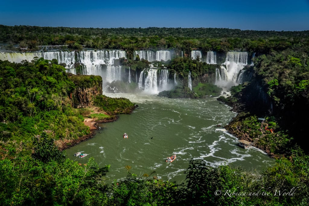 Iguazu Falls is one of the most beautiful places to see in Argentina