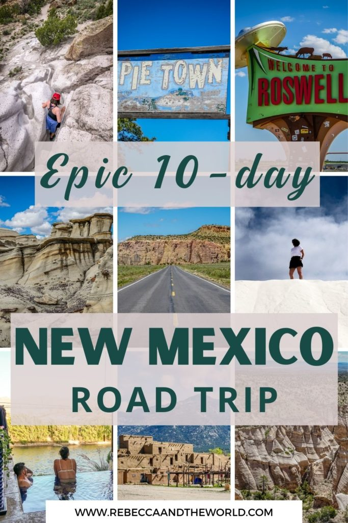 A New Mexico road trip is the best way to see the state, full of natural beauty and culture. Plan your New Mexico itinerary with this detailed guide, covering where to stop, what to see and where to stay. | New Mexico | New Mexico Road Trip | New Mexico Itinerary | USA Road Trip | |Things To Do in New Mexico | What To Do in New Mexico | New Mexico Road Trip Things To Do | New Mexico Road Trip Map | New Mexico Travel Itinerary | Santa Fe Itinerary | Taos Itinerary
