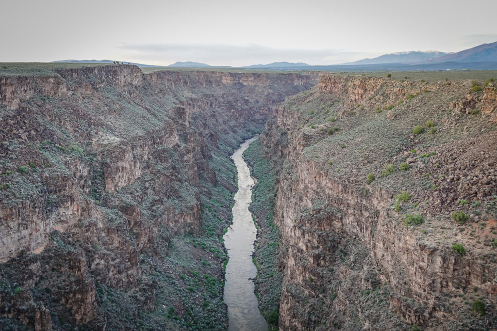 Taos Gorge is one of the best places to visit in Taos - especially at sunset