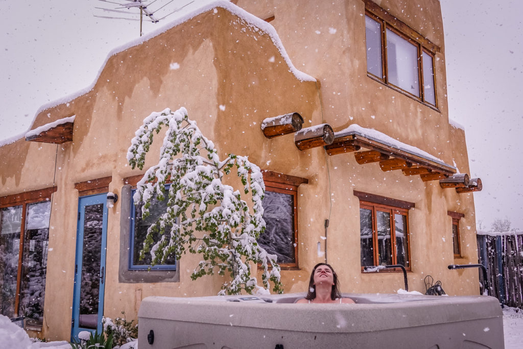 You might get snow on your New Mexico road trip, depending on what time of year you visit!