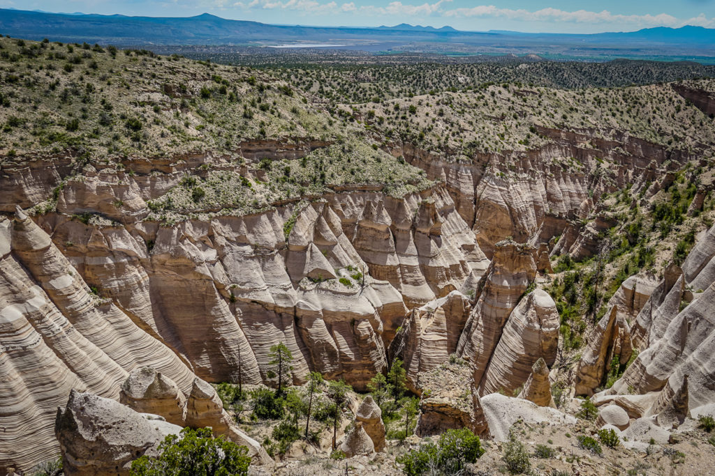 A New Mexico must visit is Kasha-Katuwe Tent Rocks National Monument