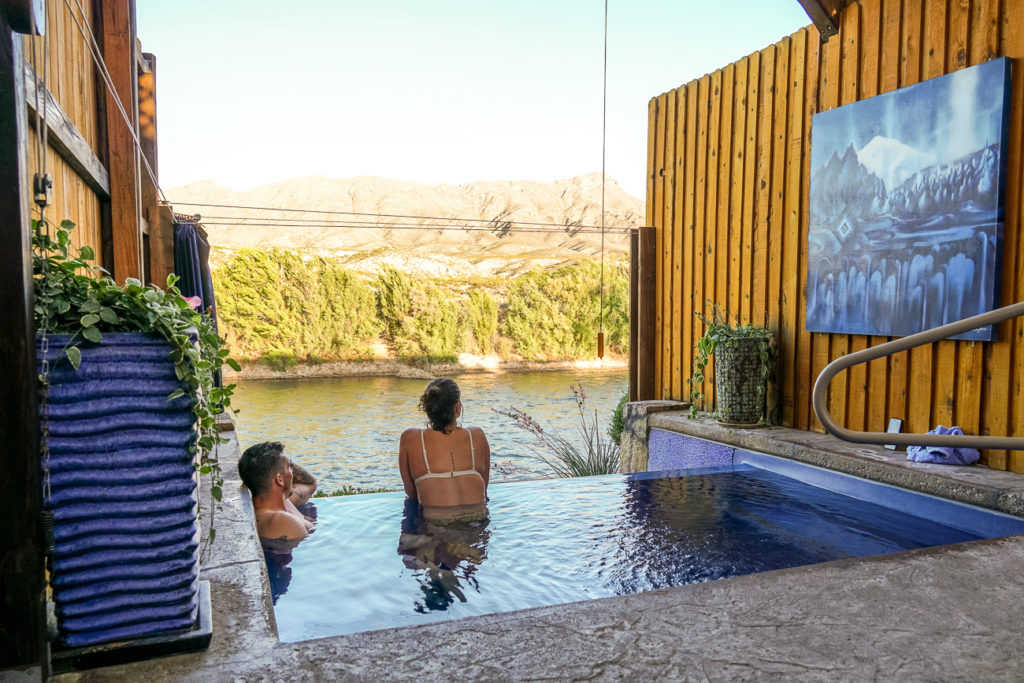 Relax in one of the many hot springs in Truth or Consequences, New Mexico - it's a must visit on a New Mexico road trip