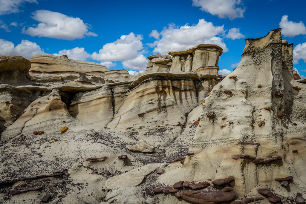 If you're into hiking and amazing landscapes, Bisti Badlands should be one of the stops on your New Mexico road trip itinerary